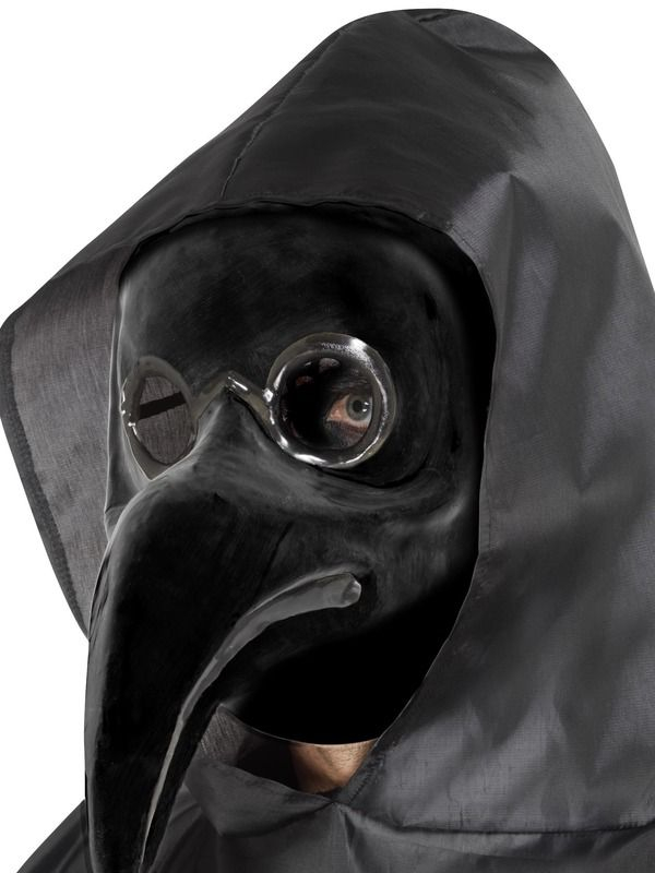 Authentic Plague Doctor Masker Zwart