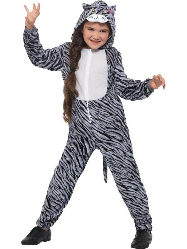 Tabby Cat Kinder Kostuum