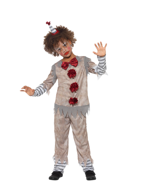 Vintage Clown Boy Kinder Kostuum