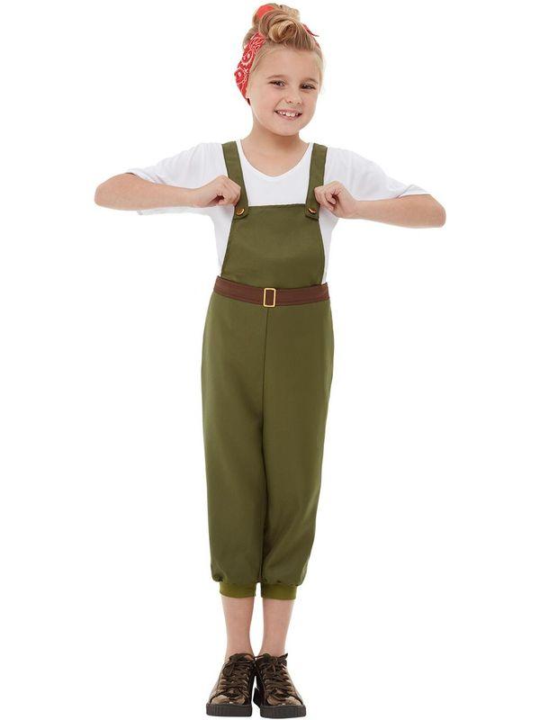 WW2 Little Land Girl Kinder Kostuum