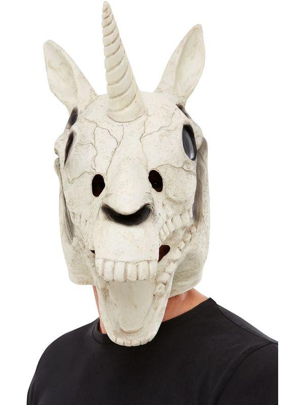 Unicorn Skull Latex Masker