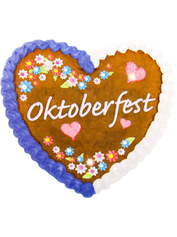 Oktoberfest Lebkuchen Party Badge LED