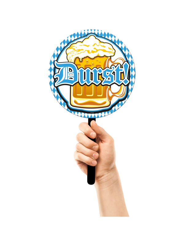 Zwaaibordje Durst Oktoberfest Biertje Bestellen