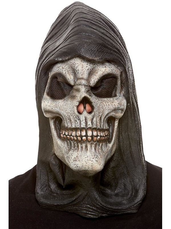 Hooded Skeleton Latex Masker