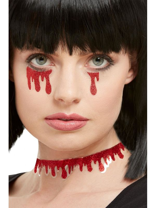 Blood Dripping Make-Up FX Stickers