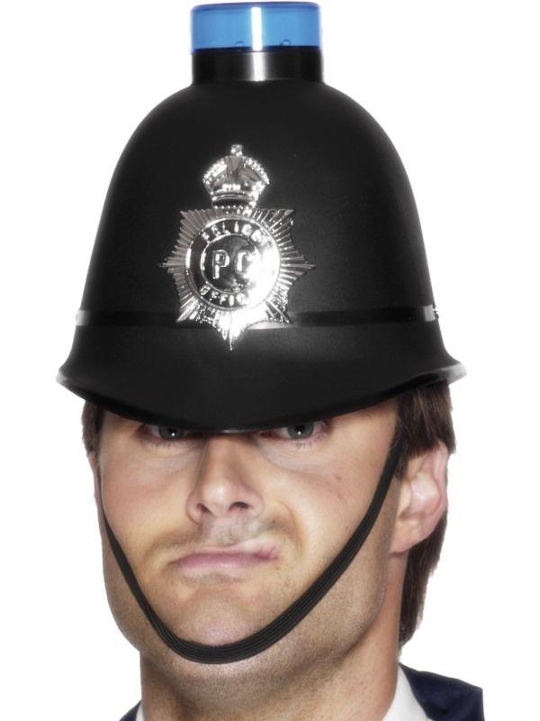 Politie Helm met Knipperende Sirene