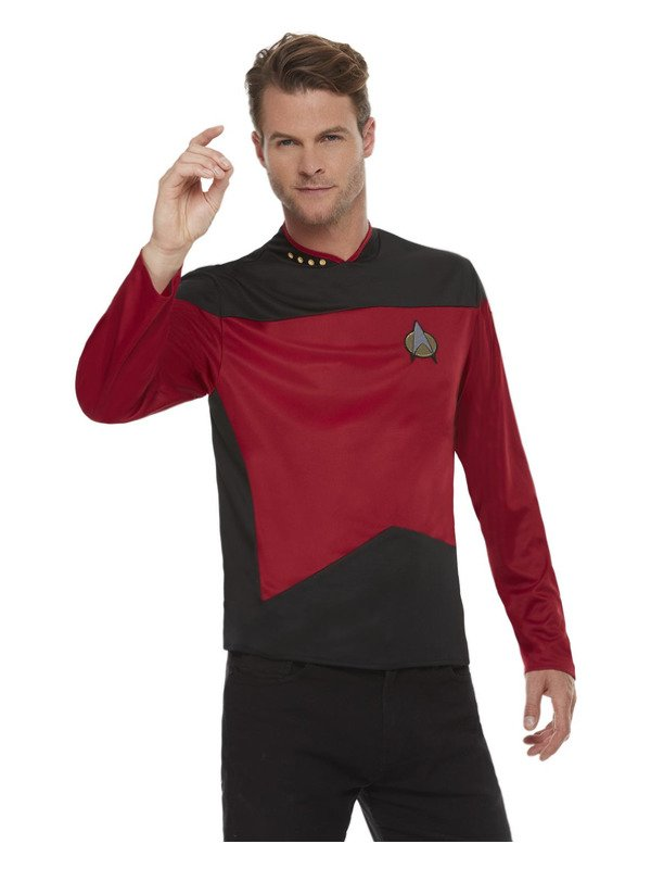 Star Trek, The Next Generation Command Uniform, Top Maroon Red