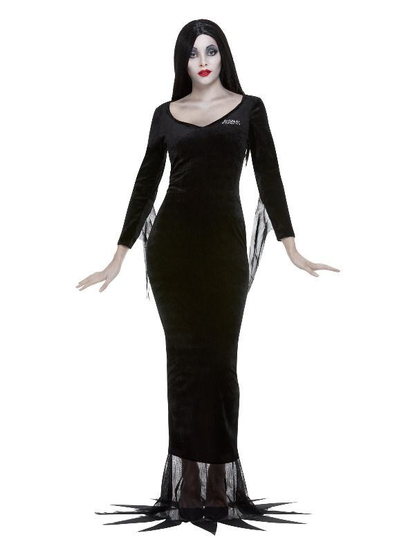 Addams Family Morticia Jurk, Black