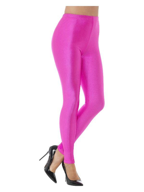 80s Disco Spandex Legging Neon Roze