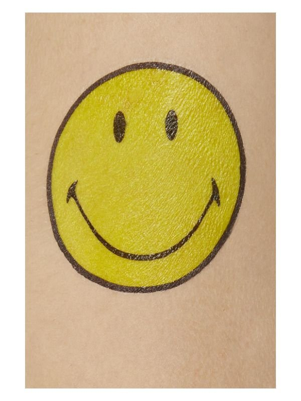 Smiley Transfer Tattoos, Multi-Coloured
