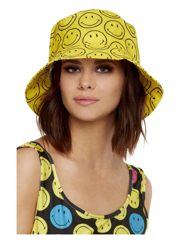 Smiley Printed Bucket Hoed