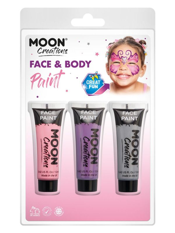 Moon Creations Face & Body Paint Roze/Paars/Zilver