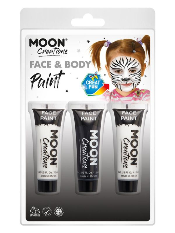 Moon Creations Face & Body Paint Zwart/Wit