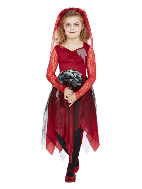 Graveyard Bride Kinderkostuum, Rood