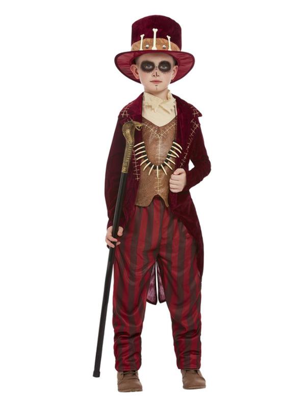 Voodoo Witch Doctor Kinderkostuum, Burgundy