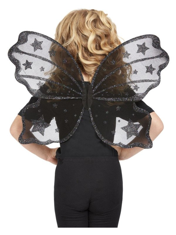Dark Botanicals Butterfly Wings, Zwart