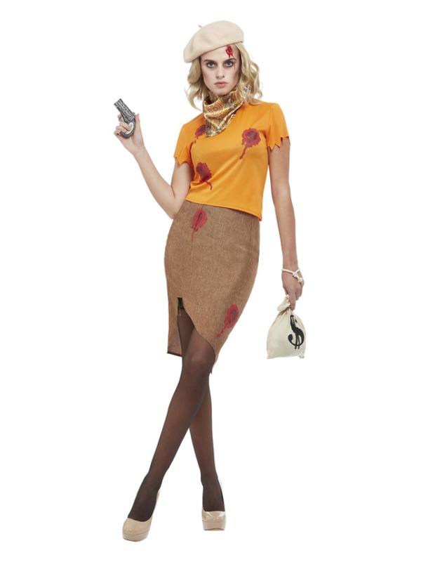 Bonnie Zombie Gangster Kostuum