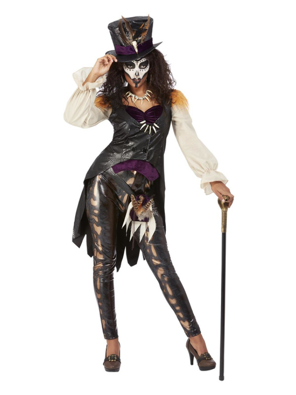 Deluxe Voodoo Witch Doctor Dames Kostuum