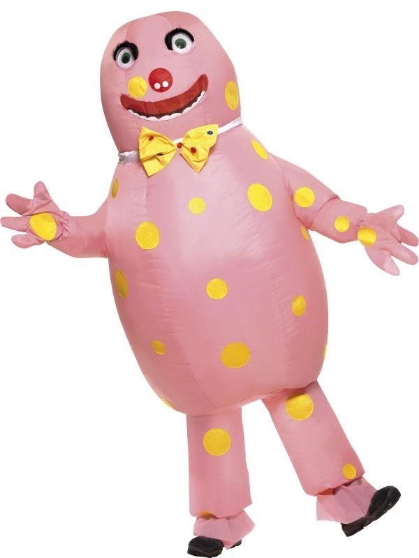 Mr Blobby Opblaasbaar Heren Verkleedkleding