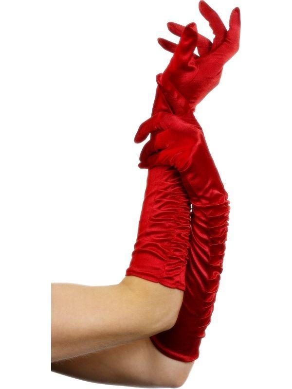 Rode Lange Handschoenen