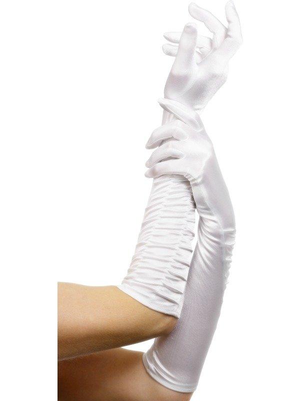 Witte Lange Handschoenen