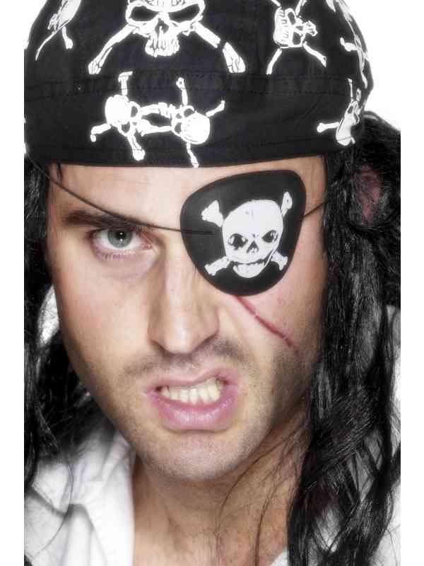 Piraten Ooglapje met Doodskop