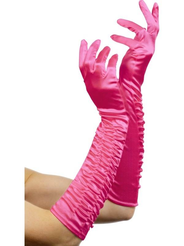 Fuchsia Roze Lange Handschoenen