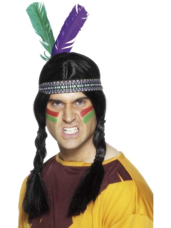 Indianen Haarband met Veren.