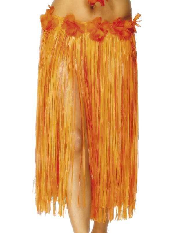 Oranje Lange Hawaii Luau Rok