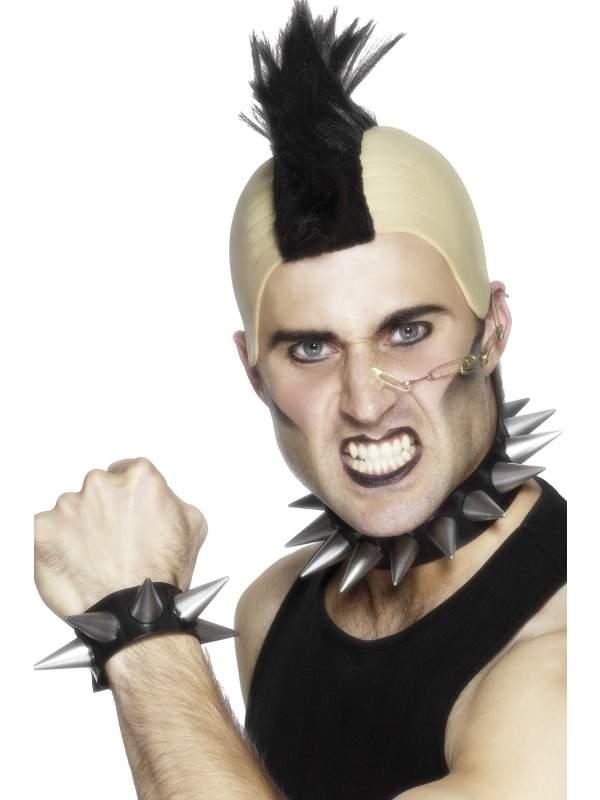 Punk Halsband en Armband met Spikes