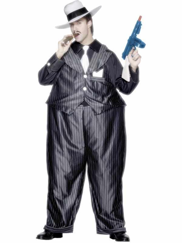 Dikke Gangster Heren Verkleedkleding