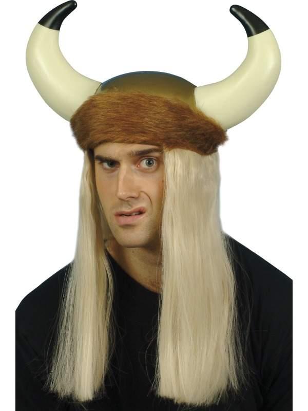 Viking Helm met Lange Blonde Haren