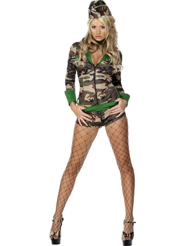 Fever Combat Chick Leger Kostuum