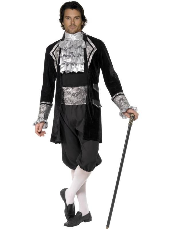 Fever Male Baroque Vampier Kostuum