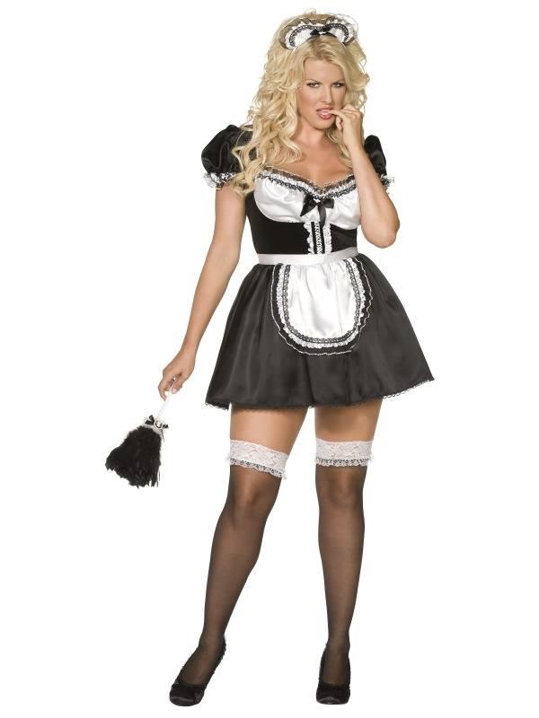 Sexy Frans Dienstmeisje Kostuum