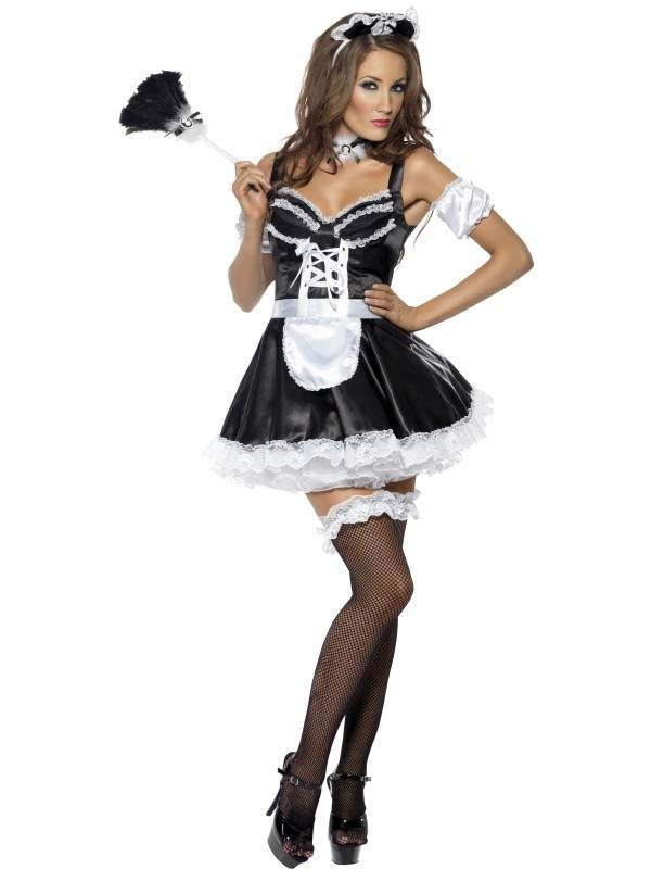 Fever Flirty Dienstmeisje Kostuum