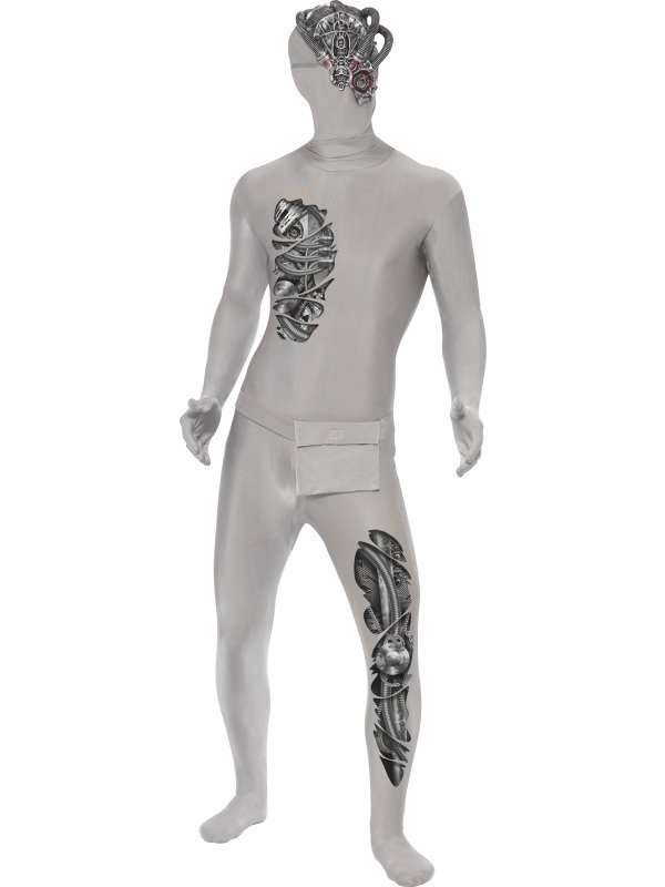 Robot Second Skin Morphsuit Kostuum