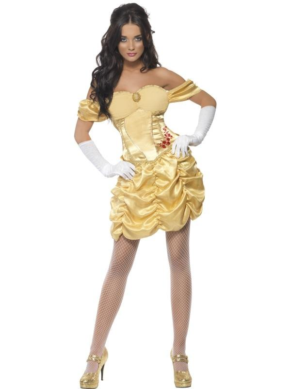Fever Golden Princess Belle Verkleedkleding