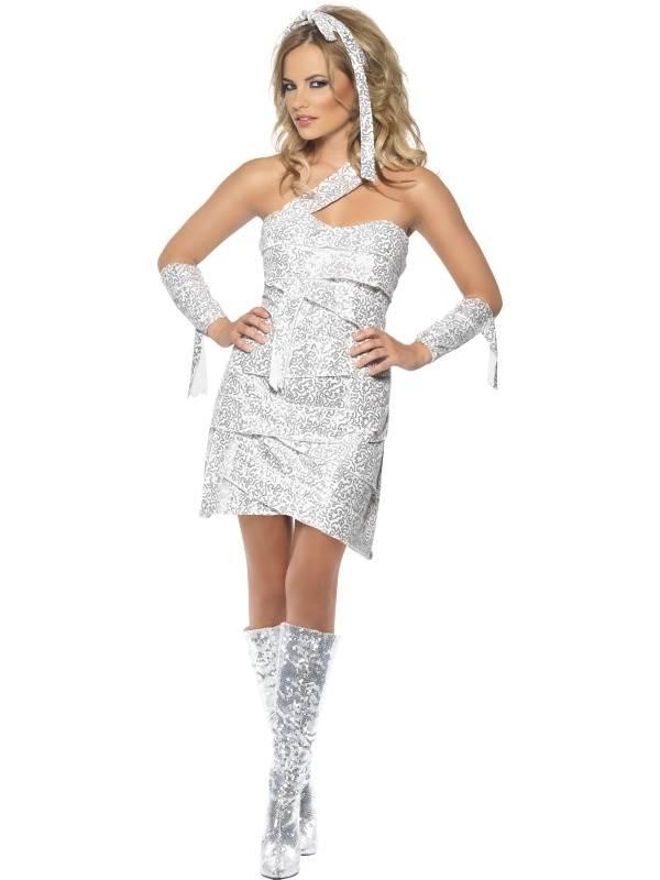Fever Mummy Glitter Dames Kostuum