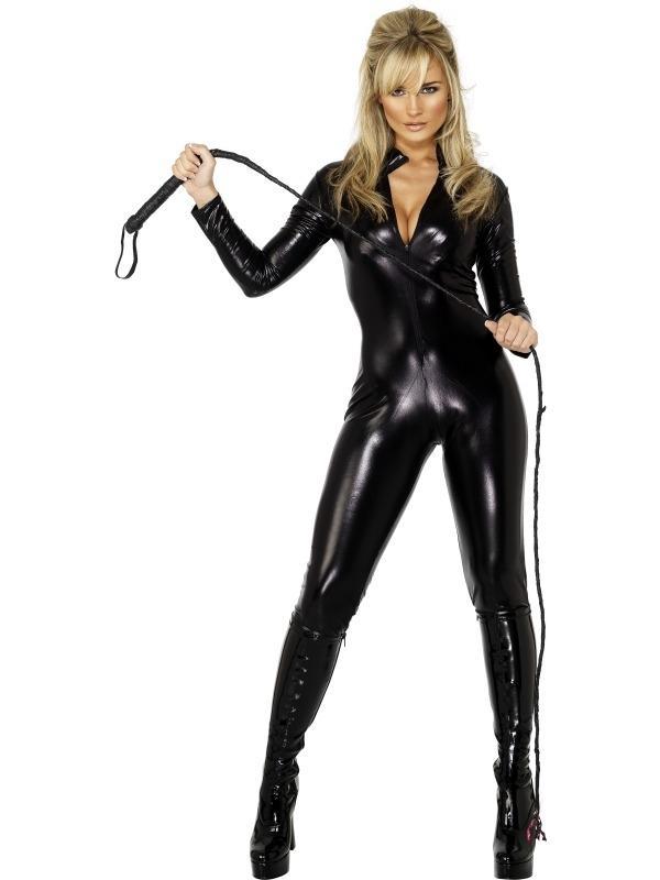 Misstress Zwarte Catsuit
