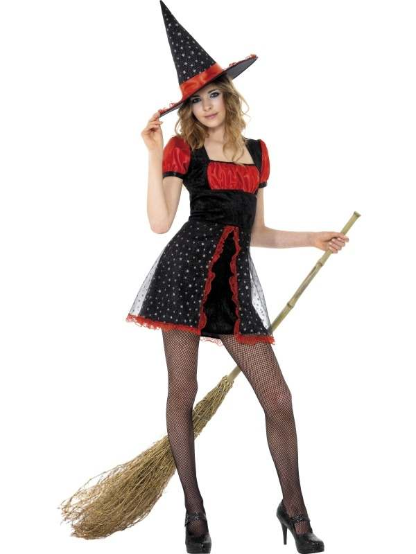 Tiener Star Witch Heksen Kostuum