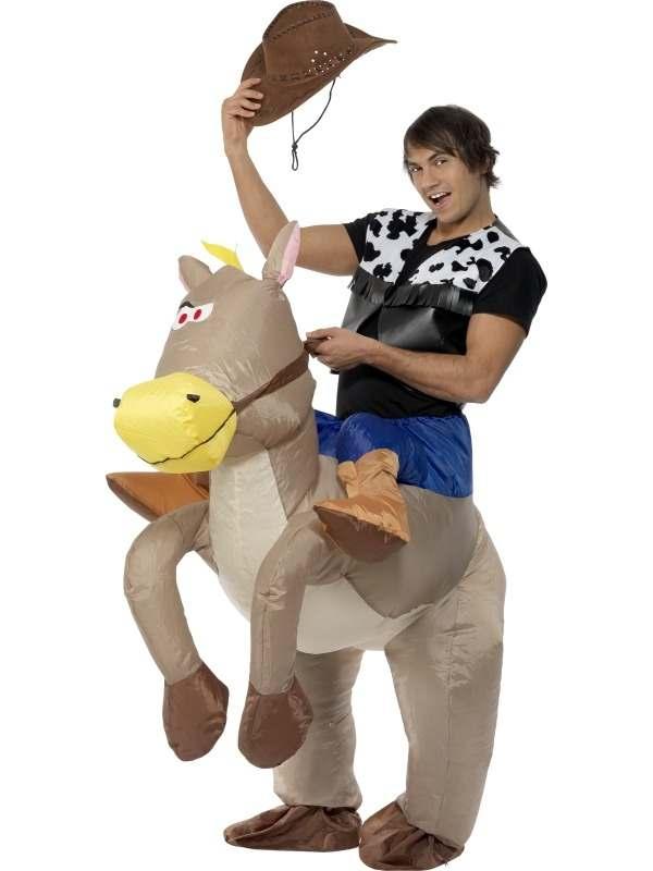 Ride Em Cowboy Opblaasbaar Verkleedkleding