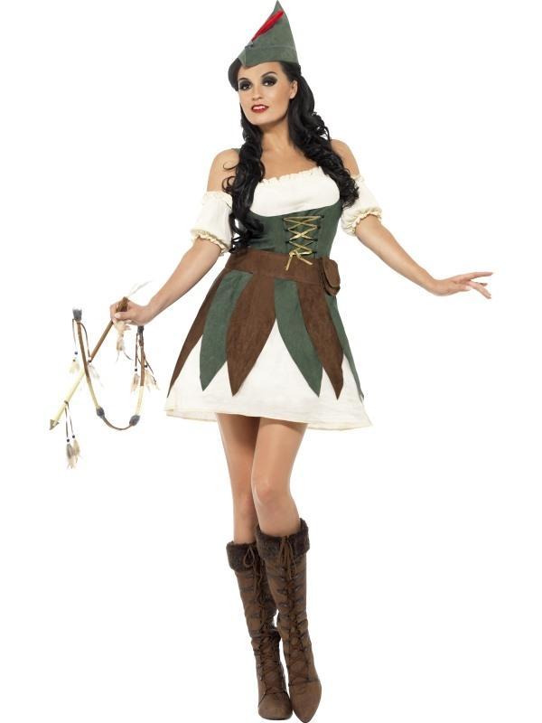 Fever Sexy Robin Hood Dames Kostuum
