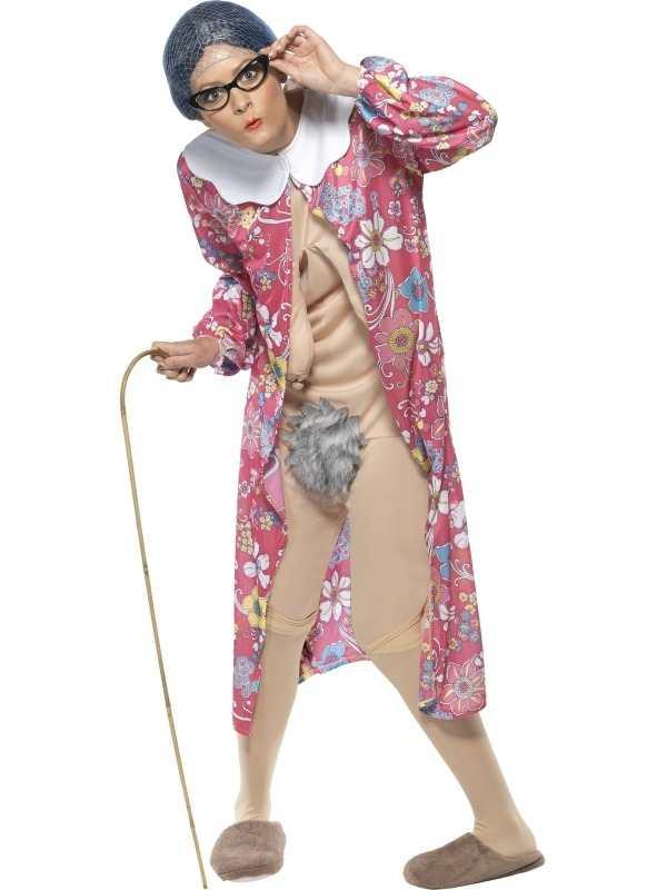 Gravity Granny Oma Kostuum