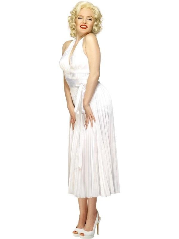 Top kwaliteit Marilyn Monroe Witte Halterjurk