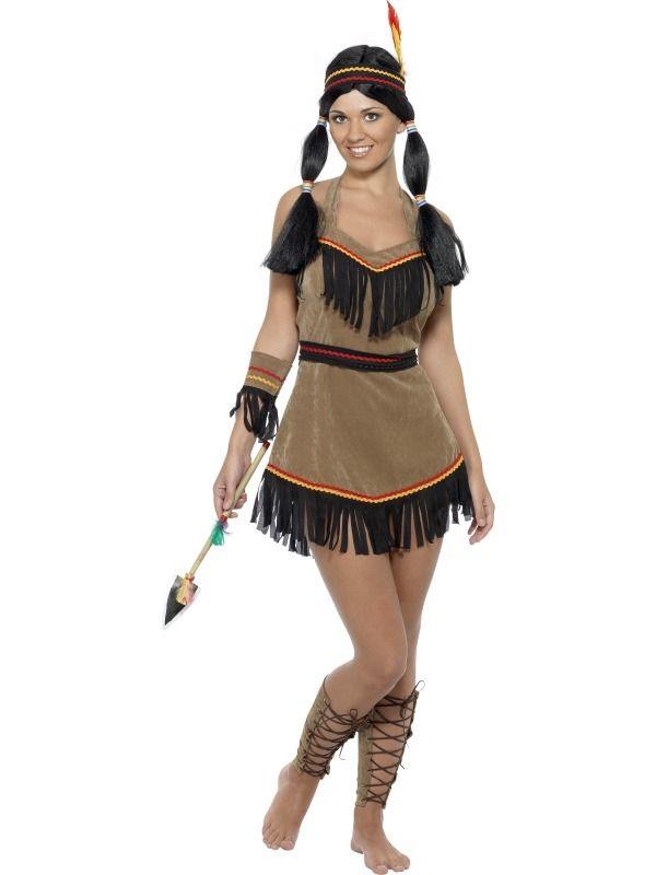 Indianen Dames Kostuum 5-delig