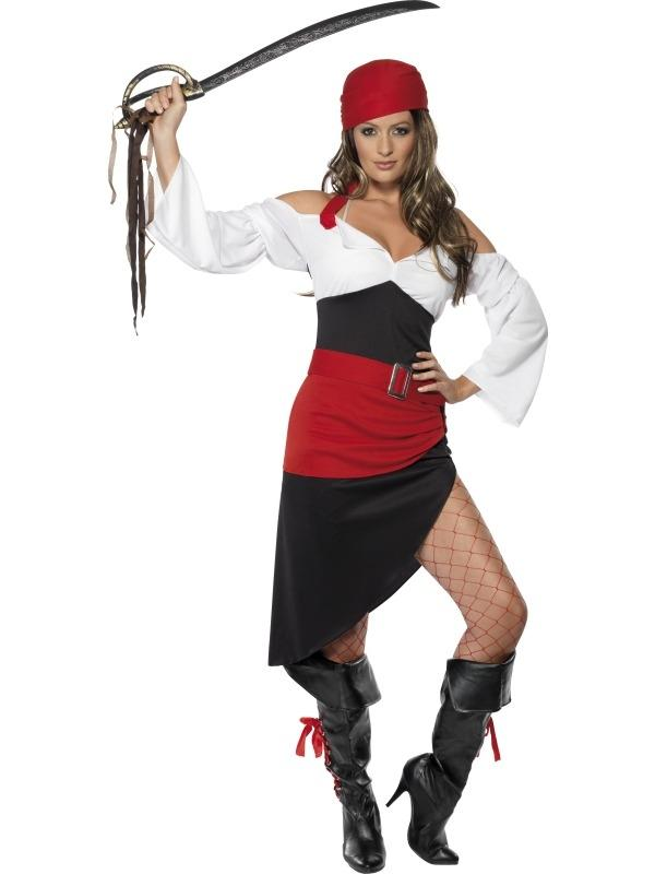 Sassy Pirate Piraat Dames Kostuum