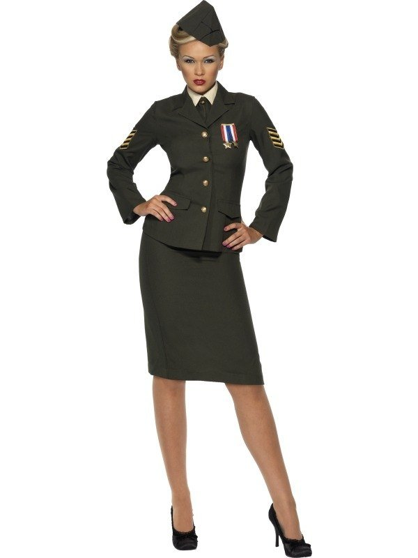 Wartime Officier Dames Verkleedkleding