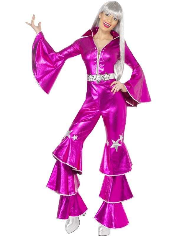 1970's Dancing Dream Kostuum Roze