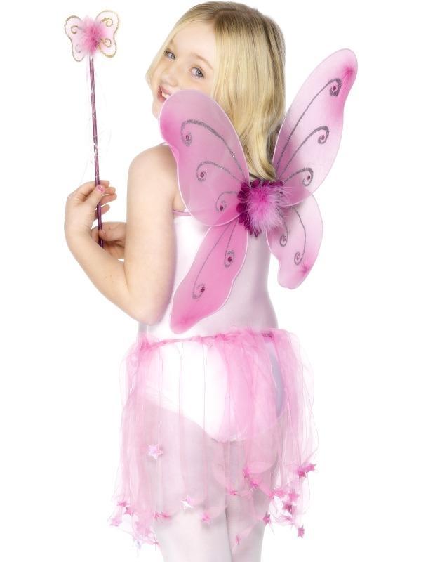 Roze Vlinder Vleugels en Toverstaf